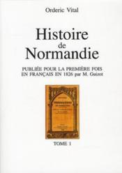 Histoire de la Normandie t.1 - Couverture - Format classique