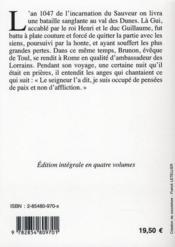 Histoire de la Normandie t.1 - 4ème de couverture - Format classique