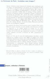 La Commune de Paris, révolution sans images ? politique et representations dans la France républicaine, 1871-1914 - 4ème de couverture - Format classique