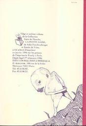 La petite dame - 4ème de couverture - Format classique