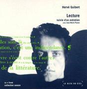 Hervé Guibert, 1955-1991 ; lecture et entretiens - Intérieur - Format classique