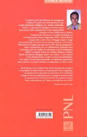 Manager ; un veritable jeu avec la pnl ; 2e edition - 4ème de couverture - Format classique