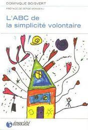 L'ABC de la simplicité volontaire - Couverture - Format classique