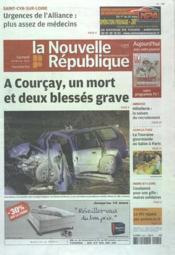 Nouvelle Republique (La) N°20479 du 25/02/2012 - Couverture - Format classique
