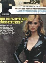 F Magazine - N° 20 - Sexualite - Petites Annonces - Qui Exploite Les Prostituees ? - Couverture - Format classique