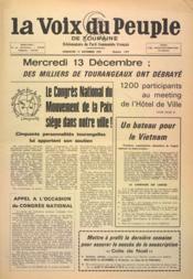 Voix Du Peuple De Touraine (La) N°1377 du 17/12/1967 - Couverture - Format classique