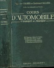 Cours D'Automobile Theorique Et Pratique - Couverture - Format classique