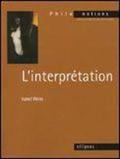 L'Interpretation - Couverture - Format classique