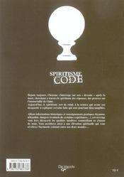 Spiritisme Code - 4ème de couverture - Format classique
