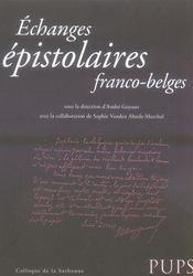 Échanges épistolaires franco-belges - Intérieur - Format classique