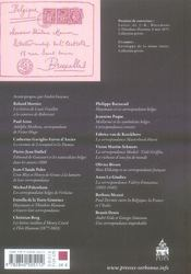 Échanges épistolaires franco-belges - 4ème de couverture - Format classique
