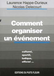 Comment Organiser Un Evenement - Intérieur - Format classique
