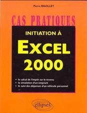 Initiation A Excel 2000 - Intérieur - Format classique