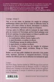 Théorie et pratique du signal ; signaux déterministes et aléatoires en continu et en discret - 4ème de couverture - Format classique