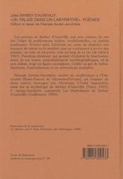 Un palais dans un labyrinthe ; poèmes - 4ème de couverture - Format classique