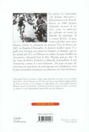 Jacques augendre, la memoire du tour de france - 4ème de couverture - Format classique