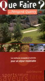 Que Faire En Perigord-Quercy ? - Couverture - Format classique