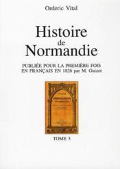 Histoire de Normandie t.3 - Couverture - Format classique