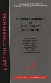 Giordano Bruno et la puissance de l'infini - Couverture - Format classique