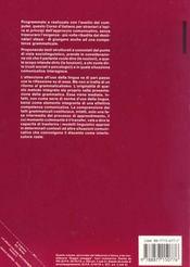 La Lingua Italiana Per Stranieri Corso Elementare Ed Inter- Medio Tome 2 - 4ème de couverture - Format classique