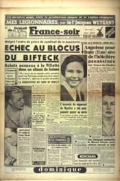 France Soir Derniere Edition N°2219 du 18/09/1951 - Couverture - Format classique