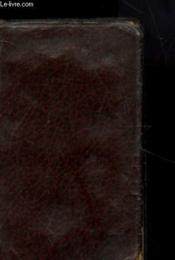 Nouveau Paroissien Romain Contenant L'Office Des Principales Fetes Et Les Epitres Et Evangiles De Tous Les Dimanches N°301 - Couverture - Format classique