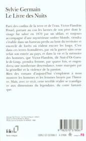 Le Livre Des Nuits - 4ème de couverture - Format classique