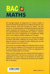 Guide Pour La Preparation Au Bac Ts Mathematiques Enseignement Obligatoire 15 Bacs Blancs Exercices - 4ème de couverture - Format classique