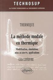 La méthode modale en thermique - Intérieur - Format classique