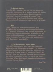 Theatre Complet 7 Le Dernier Sursaut, King, La Fete Du Cordonn - 4ème de couverture - Format classique