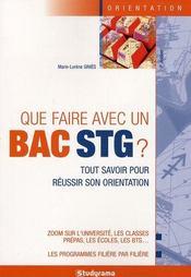 Que faire avec un bac stg ? 6e edition - Intérieur - Format classique