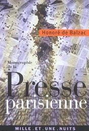 Monographie de la presse parisienne - Intérieur - Format classique
