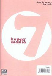 Happy Mania T.7 - 4ème de couverture - Format classique