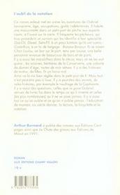 L'Oubli De La Natation - 4ème de couverture - Format classique