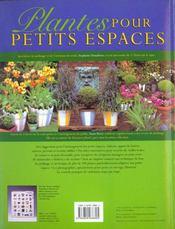 Plantes Pour Les Petits Espaces - 4ème de couverture - Format classique