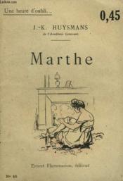 Marthe. Collection : Une Heure D'Oubli N° 45 - Couverture - Format classique