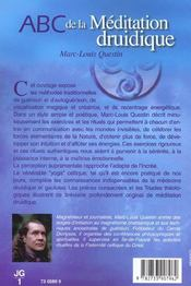 Abc De La Meditation Druidique - 4ème de couverture - Format classique