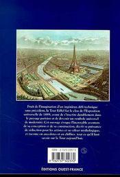La Fantastique Histoire De La Tour Eiffel - 4ème de couverture - Format classique