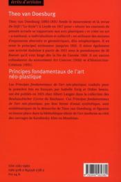 Principes fondamentaux de l'art néo-plastique - 4ème de couverture - Format classique