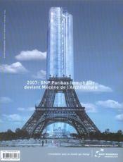 La cité de l'architecture et du patrimoine - 4ème de couverture - Format classique