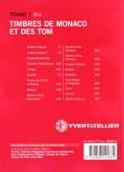 Timbres de France t.1 bis ; timbres de Monaco et des territoires français d'iutre mer ; Andorre, Europa, Nations Unies - 4ème de couverture - Format classique