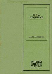 Il Y A L'Injustice - Couverture - Format classique