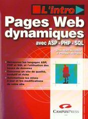 Creation De Pages Web Dynamiques - Intérieur - Format classique