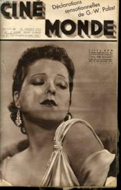 CINEMONDE - 6e ANNEE - N° 221 - GINGER ROGERS - GERMAINE ROGER - ROGER TREVILLE - FANTAISIES AMERICAINES - JEAN EPSTEIN - ESTHER KISS... - Couverture - Format classique