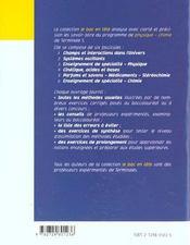 Parfums Et Savons Medicaments Stereochimie Terminale S - 4ème de couverture - Format classique