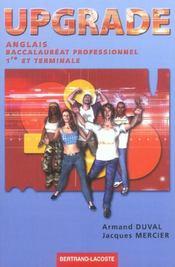 Upgrade ; anglais ; bac pro ; manuel de l'élève - Intérieur - Format classique