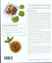 Bien manger sans cholesterol - 4ème de couverture - Format classique