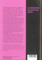 À la découverte de cent et une pièces - 4ème de couverture - Format classique