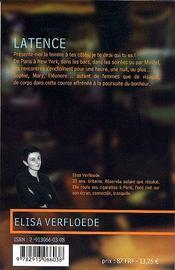 Latence - 4ème de couverture - Format classique