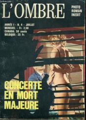 L'Ombre. Mensuel N° 4. Concerte En Mort Majeure. - Couverture - Format classique